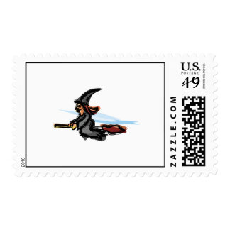 Evil little witch postage