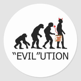 """Evil"" lution of a trick or treater Classic Round Sticker"