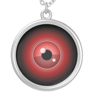 Evil magic red eye of the devil round pendant necklace