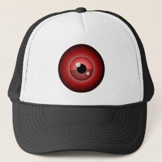 Evil magic red eye of the devil trucker hat
