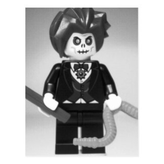 Evil Magician Custom Minifigure with Magic Wand Postcard