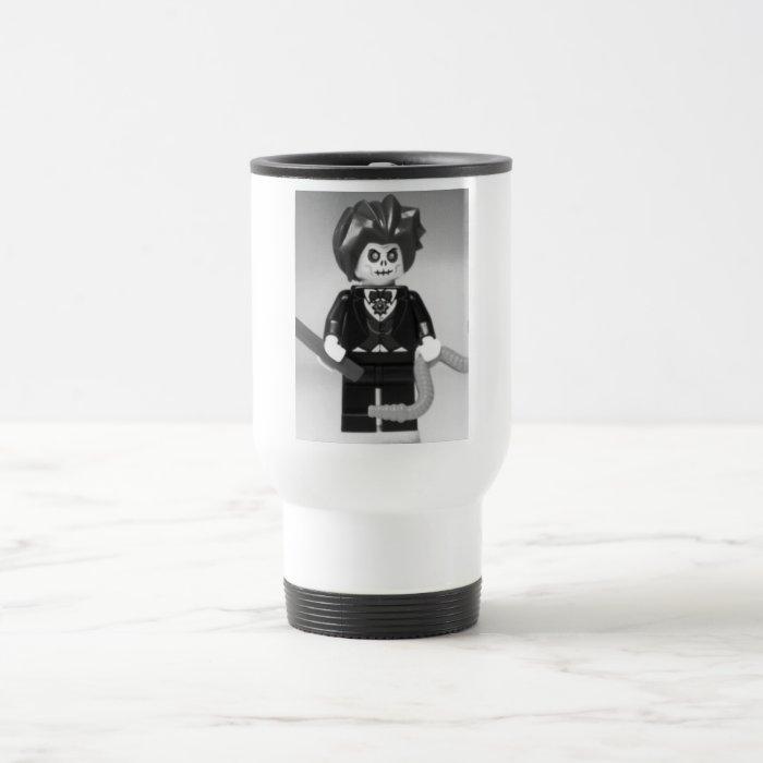 Evil Magician Custom Minifigure with Magic Wand Travel Mug