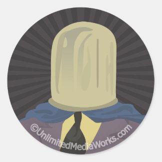 Evil Mastermind Crystal Classic Round Sticker