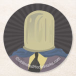 Evil Mastermind Crystal Round Paper Coaster