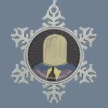 Evil Mastermind Crystal Snowflake Pewter Christmas Ornament