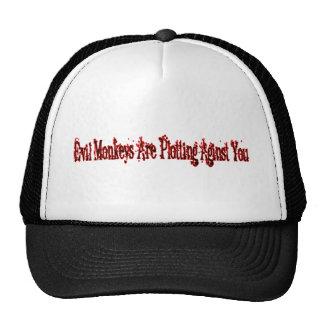 Evil Monkeys Are Plotting Aginst You Trucker Hat