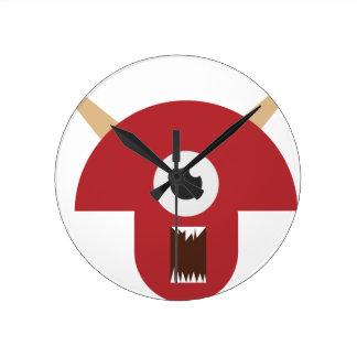 Evil Monster Head Round Clock