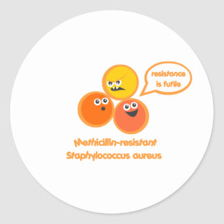 Evil MRSA Round Sticker