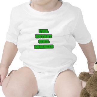 Evil Mutant Civil Engineer Baby Bodysuits