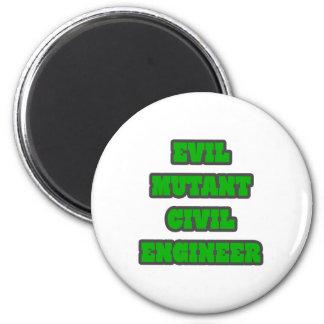 Evil Mutant Civil Engineer Refrigerator Magnets