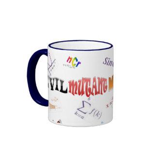 Evil Mutant Math Teacher Ringer Coffee Mug
