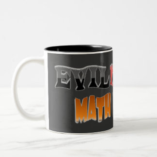 Evil mutant Math Teacher Two-Tone Coffee Mug