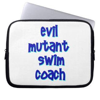 Evil Mutant Swim Coach Laptop Sleeve