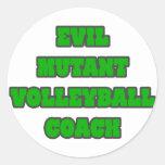 Evil Mutant Volleyball Coach Classic Round Sticker