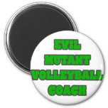 Evil Mutant Volleyball Coach Magnets