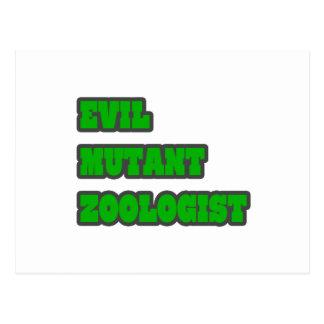 Evil Mutant Zoologist Postcard