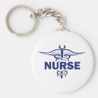 evil nurse basic round button keychain