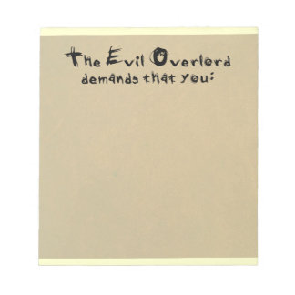 Evil Overlord Notepad
