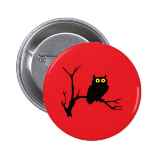 Evil owl 2 inch round button