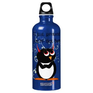 Evil Penguin Aluminum Water Bottle