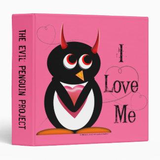 "Evil Penguin™ Back to School Binders! 1.5"" Size 3 Ring Binders"