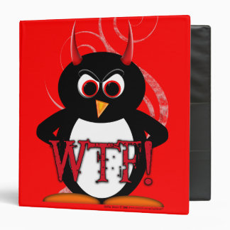 "Evil Penguin™ Back to School Binders! 1.5"" Size Binder"