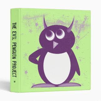 """Evil Penguin™ Back to School Binders! 1"""" Size Vinyl Binders"""
