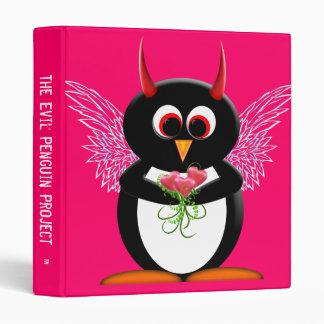 """Evil Penguin™ Back to School Binders! 1"""" size 3 Ring Binder"""