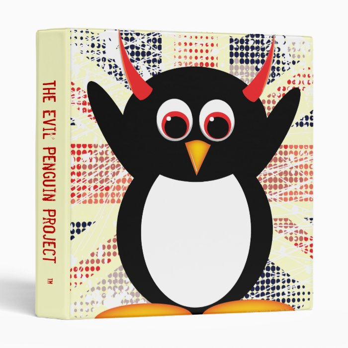 "Evil Penguin™ Back to School Binders! 1"" Size Binder"