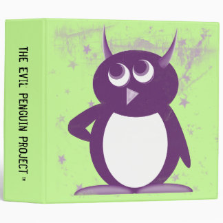 "Evil Penguin™ Back to School Binders! 2"" Size Binder"