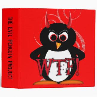 """Evil Penguin™ Back to School Binders! 2"""" Size 3 Ring Binder"""