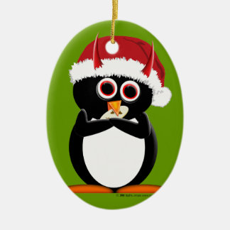 Evil Penguin Christmas ornament
