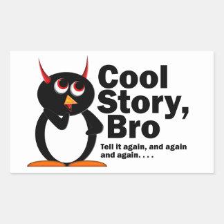 Evil Penguin Cool Story Bro Rectangular Sticker