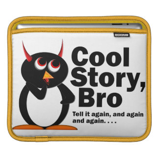 Evil Penguin Cool Story Bro Sleeve For iPads