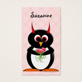 Evil Penguin Cute Profile Cards