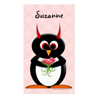 Evil Penguin Cute Profile Cards Double-Sided Standard Business Cards (Pack Of 100)