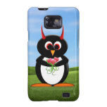 Evil Penguin™ Flowers Samsung Galaxy Covers