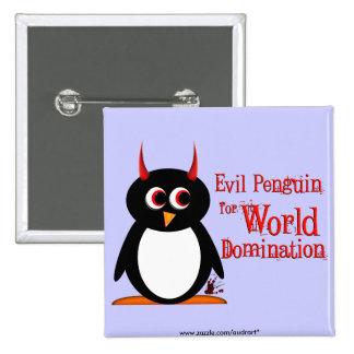 Evil Penguin for World Domination Bling Button