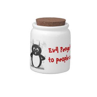 Evil Penguin™ Funny Candy Jars