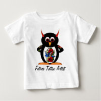 Evil Penguin Future Tattoo Artist Baby T-Shirt