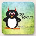 Evil Penguin™ Go Away Drink Coasters