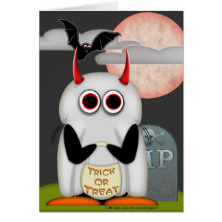 Evil Penguin Halloween Card