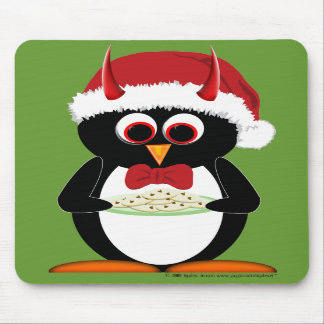 Evil Penguin Holiday Mouse Pad
