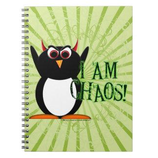 Evil Penguin™ I am Chaos! Note Books
