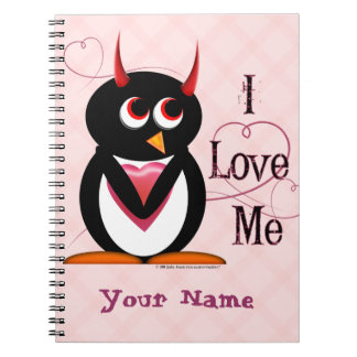Evil Penguin™ I Love Me Spiral Note Books
