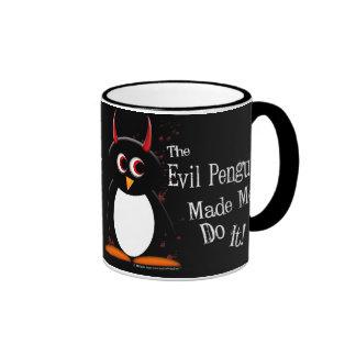Evil Penguin Made Me Dark Mug