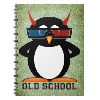 Evil Penguin™ Old School Spiral Note Book
