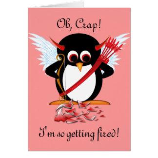 Evil Penguin OOPS Valentine Card