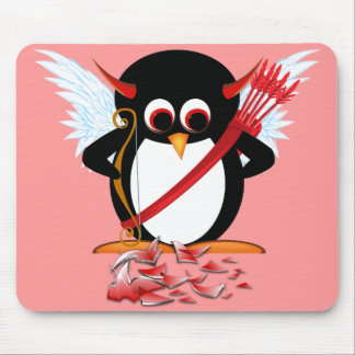 Evil Penguin OOPS! Valentine Mouse Pad