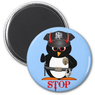 Evil Penguin Police Magnet